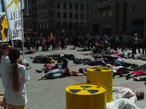 AntiAtomflashmob in München